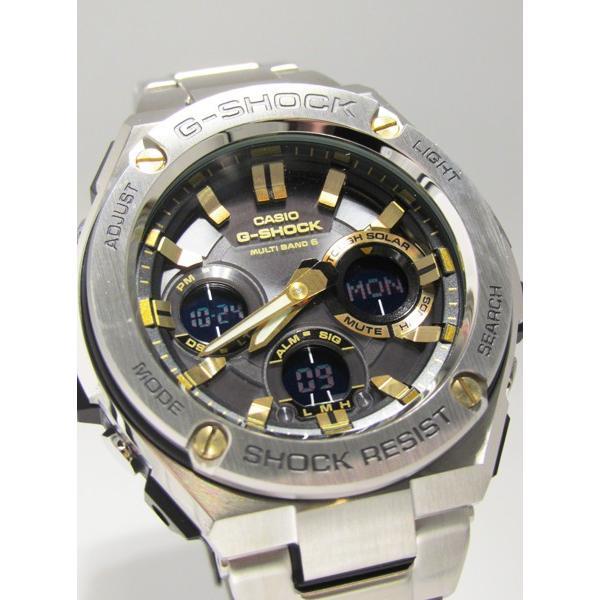 【7年保証】 CASIO G-SHOCK  レイヤーガード構造 Gスチール   国内正規品 ソーラー電波  メンズ 男性用腕時計  GST-W110D-1A9JF|mmco|03