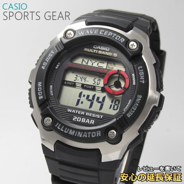 【7年保証】 CASIO SPORTS GEAR メンズ 電波 腕時計 【WV-M200-1AJF】(正規品) スポーツギア|mmco