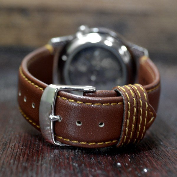 セイコー 逆輸入 セイコー5 海外モデル SEIKO5 メンズ 自動巻き 腕時計 グリーン文字盤 ブラウンレザーベルト SNKE59K1 BCM003CS|mmr2|03