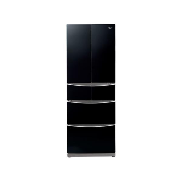 AQRFG40CKAQUA内容積400L全段強化ガラス棚冷蔵庫シャドウブラックAQRFG40CK