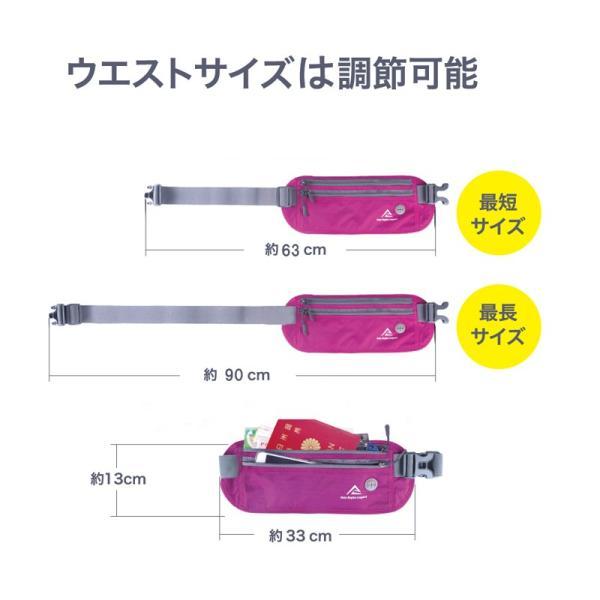 ウエストポーチ セキュリティポーチ スキミング RFID メンズ レディース 薄型 軽量 アウトドア 旅行 ジョギング サイクリング S&E mnet 05