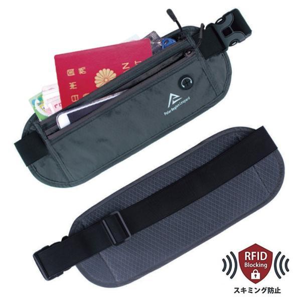 ウエストポーチ セキュリティポーチ スキミング RFID メンズ レディース 薄型 軽量 アウトドア 旅行 ジョギング サイクリング S&E mnet 08