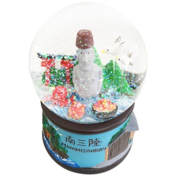 南三陸スノードーム ガラス おしゃれ かわいい おもしろ雑貨 ご当地 ロマンチック|moai-store|05