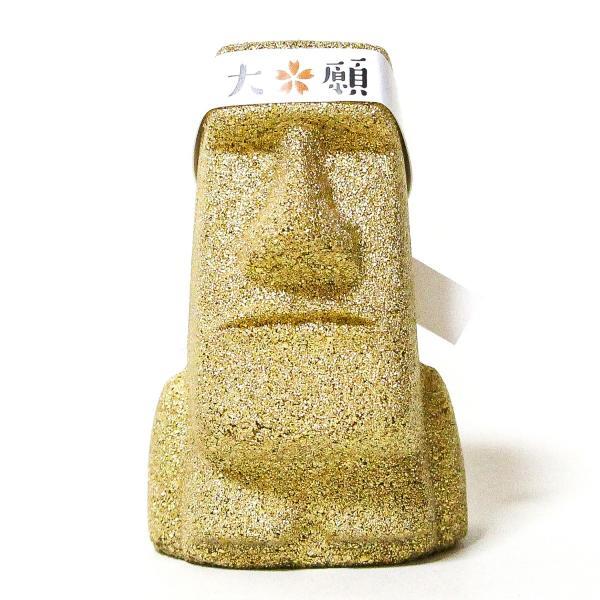 南三陸モアイファミリー 《 大願 モアイ像 》 ゴールド 大願成就 おもしろ雑貨 プレゼント 縁起物 置物|moai-store