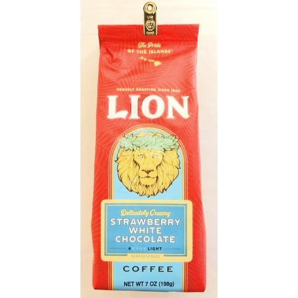 ライオンコーヒー・ストロベリーホワイトチョコレート/粉タイプ7oz(198g)