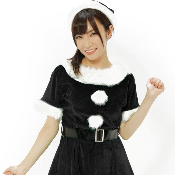 b825c1b512cc6 ... サンタ コスプレ 黒 レディース 安い クリスマス 衣装 サンタコス ワンピース おしゃれ カラフルサンタガール ブラック|mobadepa2  ...