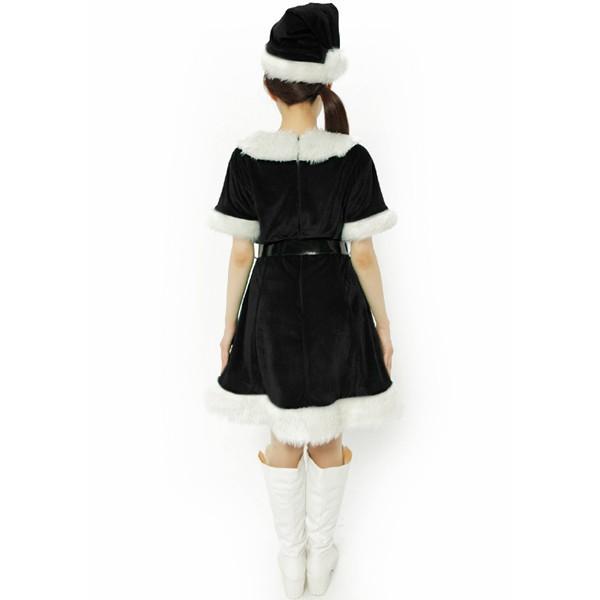 9521785cf5b82 ... サンタ コスプレ 黒 レディース 安い クリスマス 衣装 サンタコス ワンピース おしゃれ カラフルサンタガール ブラック|mobadepa2