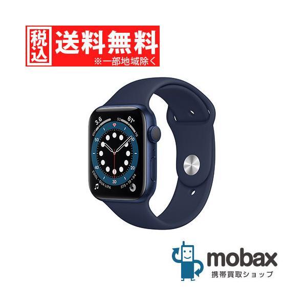 キャンペーン 新品未開封品(未使用) AppleWatchSeries6GPSモデル44mmM00J3J/Aブルーアルミニウム