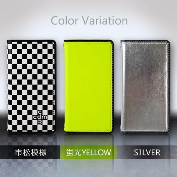 iPhone7 cdm(シーディーエム) 「ベーシック (3color)」 手帳型ケース 市松模様 ネオン iPhone6s/6|mobile-f|02