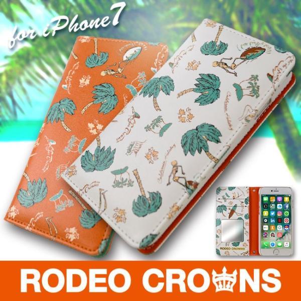 iPhone8 RODEO CROWNS/ロデオクラウンズ 「サーフアップ」 手帳型 スマホケース iPhone7/6s/6|mobile-f