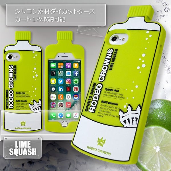 iPhone8 RODEOCROWNS/ロデオクラウンズ 「DRINK」 ダイカット シリコンケース ブランド パロディ iPhone7/6s/6|mobile-f|02