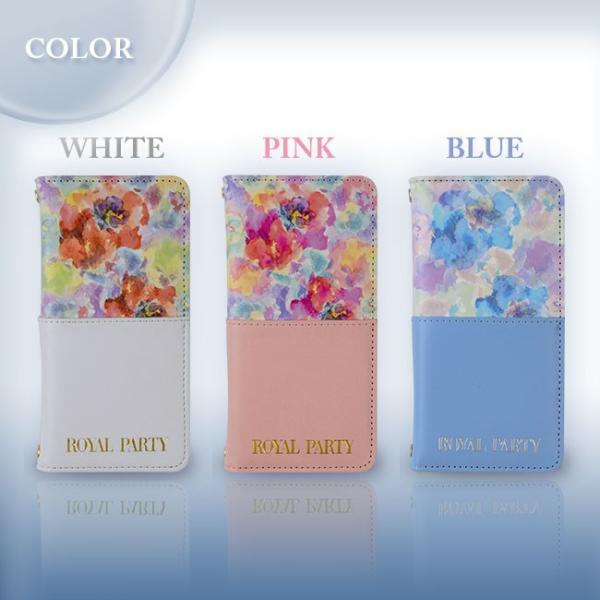 iPhone8/7 ROYALPARTY/ロイヤルパーティー 「ハーフパステル」ブランド 手帳ケース  iPhone6s/6 花柄|mobile-f|02