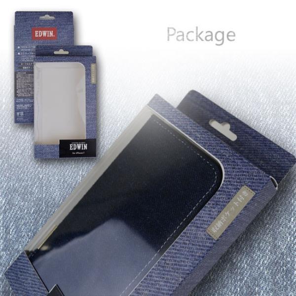 iPhone8 EDWIN/エドウィン 「センターデニム」 ブランド シンプル 手帳型ケース iPhone7/6s/6|mobile-f|05