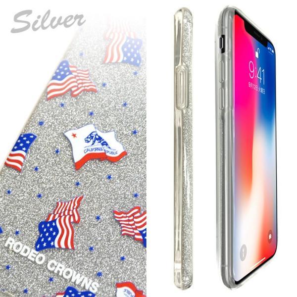 iPhoneX 専用 RODEOCROWNS/ロデオクラウンズ 「ラメシリコンケース」 グリッター ソフトケース|mobile-f|04