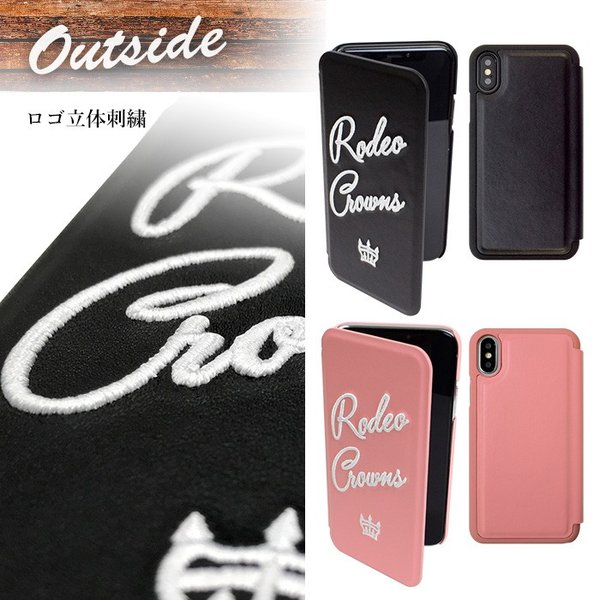 iPhoneX 専用 RODEOCROWNS/ロデオクラウンズ 「INSIDE」 薄型手帳ケース|mobile-f|03