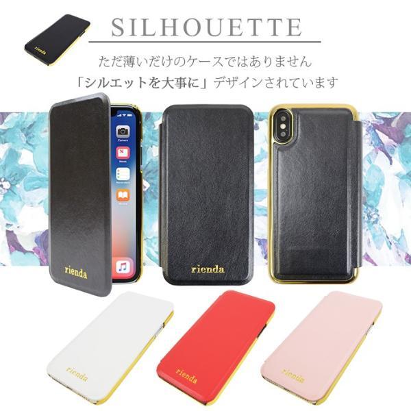 iPhoneX rienda/リエンダ 「薄型手帳ケース(内側プリント)」 花柄 アイフォン|mobile-f|04