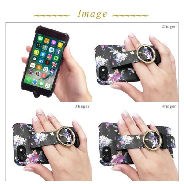 iPhone8 iPhone7/6s/6 rienda/リエンダ 「ブラーフラワー/ベルト付き背面ケース」 ブランド|mobile-f|04
