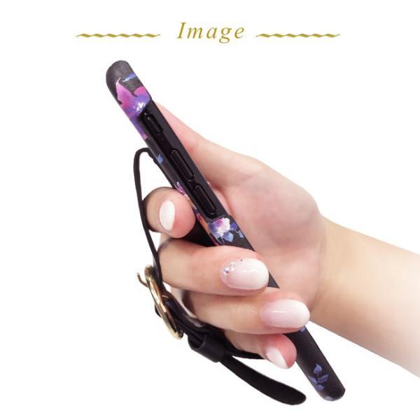 iPhone8 iPhone7/6s/6 rienda/リエンダ 「ブラーフラワー/ベルト付き背面ケース」 ブランド|mobile-f|05