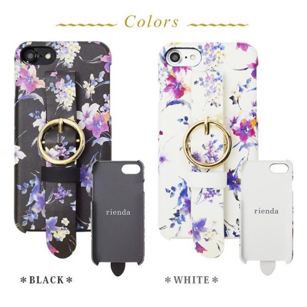 iPhone8 iPhone7/6s/6 rienda/リエンダ 「ブラーフラワー/ベルト付き背面ケース」 ブランド|mobile-f|06