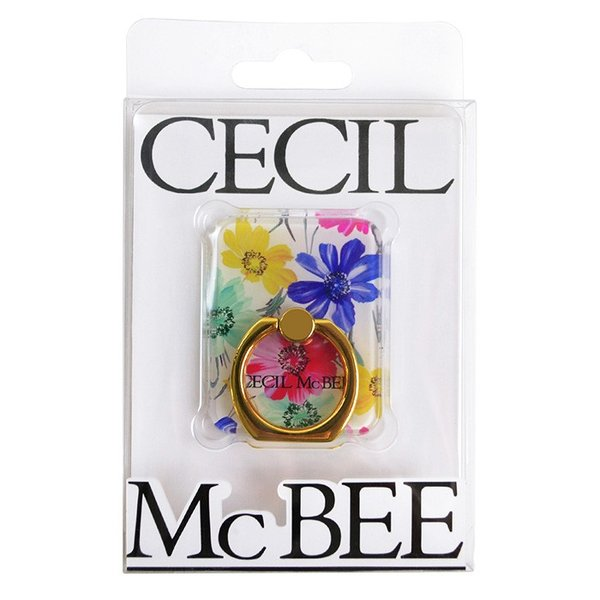 CECIL McBEE セシルマクビー スマホリング 「スクエア」 バンカーリング 落下防止 スマートフォン iPhone アクセサリ Xperia Galaxy|mobile-f|09