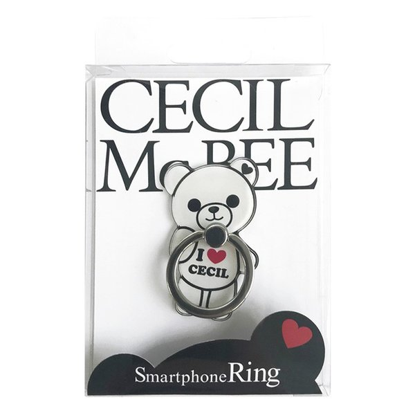 CECIL McBEE セシルマクビー スマホリング 「セシルベア」 ダイカット バンカーリング 落下防止 スマートフォン iPhone アクセサリ Xperia Galaxy|mobile-f|07