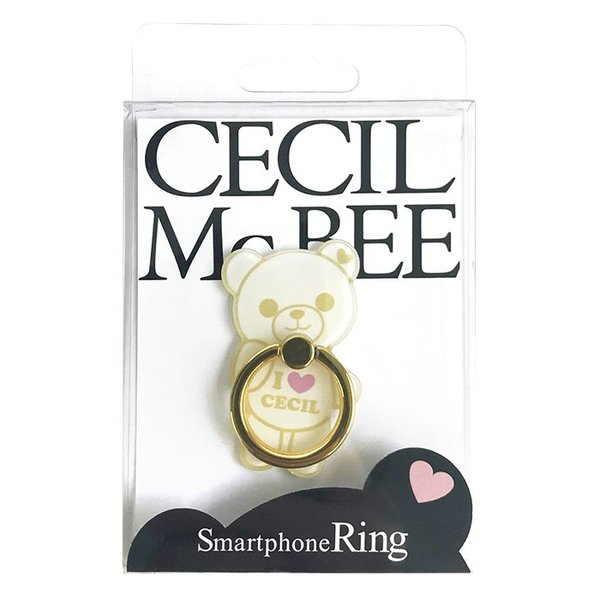 CECIL McBEE セシルマクビー スマホリング 「セシルベア」 ダイカット バンカーリング 落下防止 スマートフォン iPhone アクセサリ Xperia Galaxy|mobile-f|08