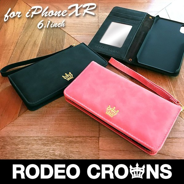 iPhoneXR RODEO CROWNS 「スエード」 手帳ケース ロデオクラウンズ iphone アイフォン ケース xr アイフォンxr|mobile-f