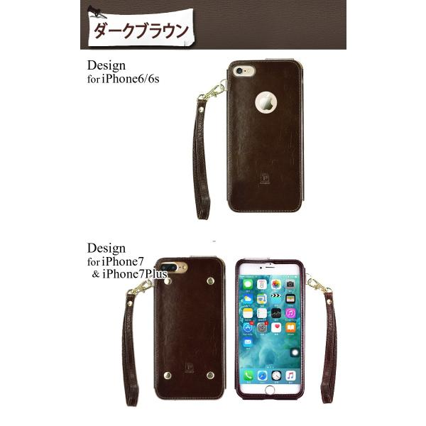iPhone8 ケース 8Plus 7 7Plus 6s 6 スマートフォン スマホカバー シンプル レザー ゴージャス ストラップ付 本革 左利き お洒落 極 薄 かっこいい|mobilebatteryampere|14