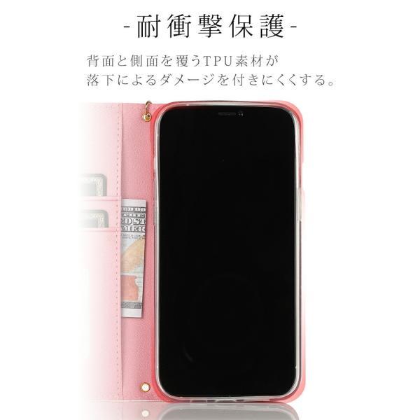 iPhone XR ケース 手帳型 iPhone8 ケース ミラー付き スマホケース iPhone XS Max 7 Plus X 6s TPU 携帯ケース 合皮 アイフォンXR ケース mobilebatteryampere 04