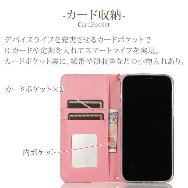 iPhone XR ケース 手帳型 iPhone8 ケース ミラー付き スマホケース iPhone XS Max 7 Plus X 6s TPU 携帯ケース 合皮 アイフォンXR ケース mobilebatteryampere 05
