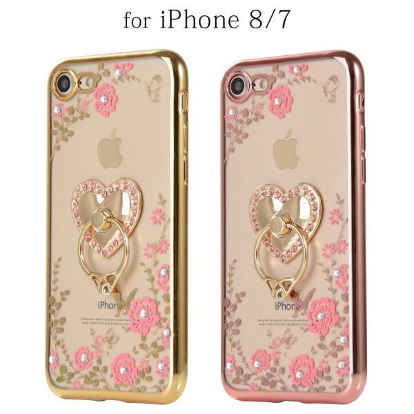 iPhone12 Max ケース iPhone12 Pro Max iPhone se2  第2世代 iPhone11 Pro Max iPhone XS XR X 8 8Plus 7 耐衝撃 スマホリング付 スマホ 花柄|mobilebatteryampere|19