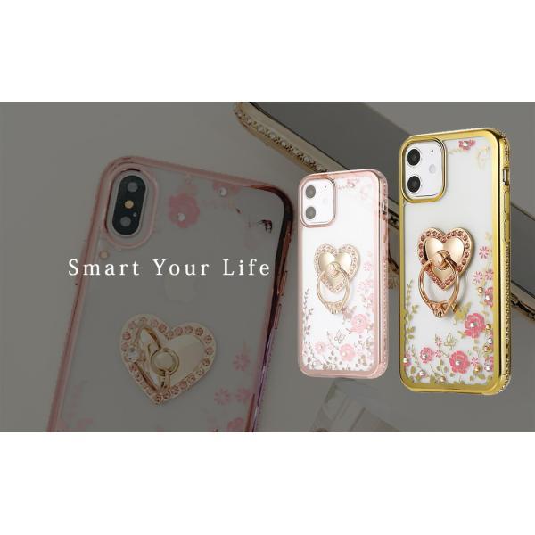 iPhone12 Max ケース iPhone12 Pro Max iPhone se2  第2世代 iPhone11 Pro Max iPhone XS XR X 8 8Plus 7 耐衝撃 スマホリング付 スマホ 花柄|mobilebatteryampere|20