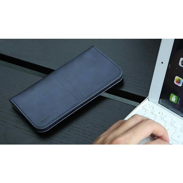 全機種対応 Qi対応 携帯 スマホ ケース 手帳型 財布型 iPhone XS Xperia Galaxy カード収納 定期入れ ストラップ付|mobilebatteryampere|18