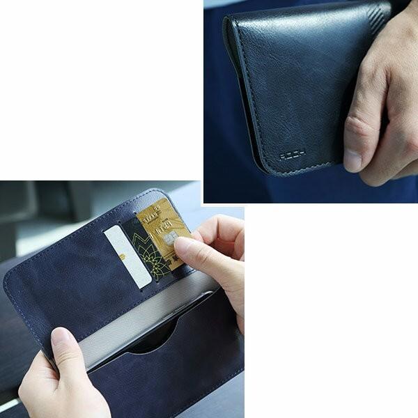 全機種対応 Qi対応 携帯 スマホ ケース 手帳型 財布型 iPhone XS Xperia Galaxy カード収納 定期入れ ストラップ付|mobilebatteryampere|19