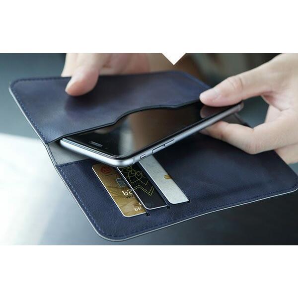 全機種対応 Qi対応 携帯 スマホ ケース 手帳型 財布型 iPhone XS Xperia Galaxy カード収納 定期入れ ストラップ付|mobilebatteryampere|20