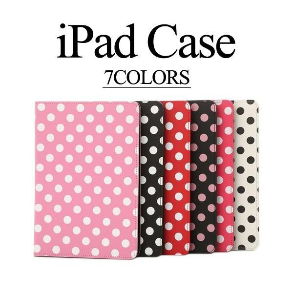 iPad mini4 ケース カバー ドット 手帳型 Xperia Z2 Tablet Air2 mini2 液晶保護フィルム+タッチペン3点セット 軽量 スリム おしゃれ かわいい レザー