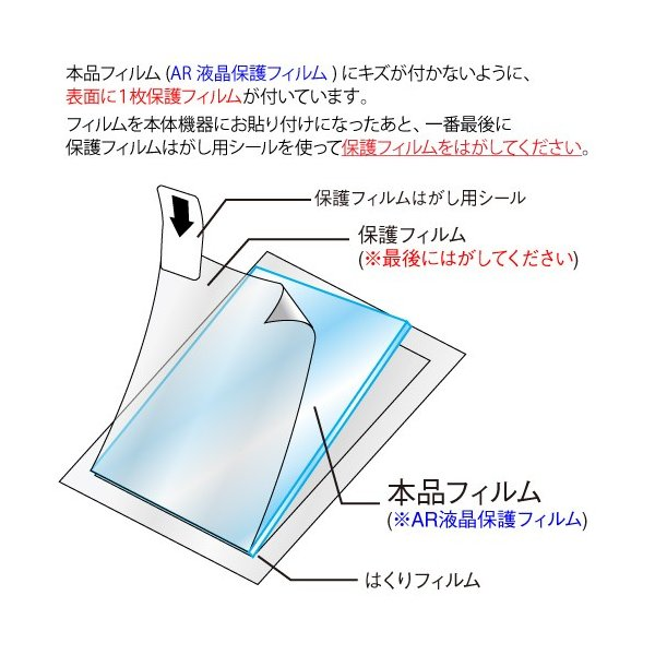 docomo P-01G AR液晶保護フィルム 映り込み抑制 高透明度 携帯電話 ASDEC アスデック AR-P01G|mobilefilm|04