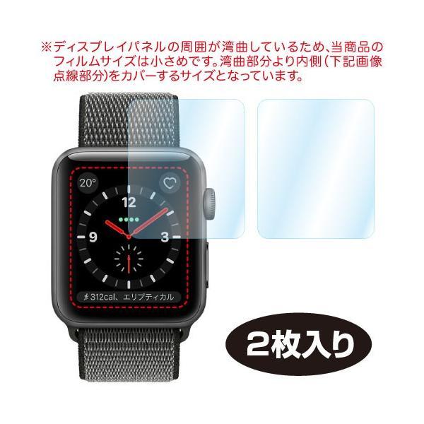 Apple Watch 38mm/42mm ケース 2枚入り AFP液晶保護フィルム3 指紋防止 キズ防止 防汚 気泡消失 ASDEC アスデック GA-APW|mobilefilm|04