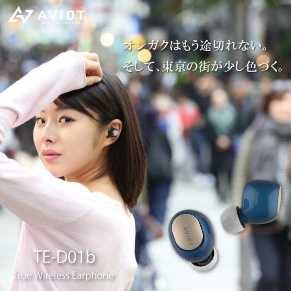 ワイヤレスイヤホン bluetooth イヤホン スマホ iphone android 対応 重低音 aac aptx AVIOT(アビオット) TE-D01b (メーカー1年保証)|mobileselect|02