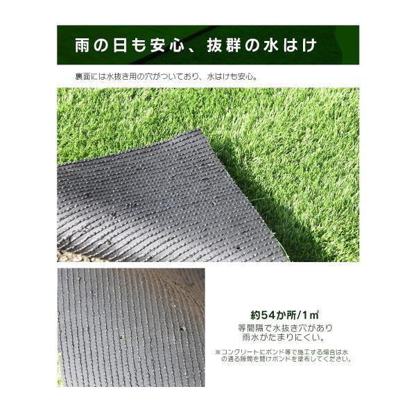 防炎リアル人工芝 [U字ピン20本入] 1m×10m 芝丈36mm [彩-IRODORI-] UV ロールタイプ人工芝 綺麗 高密度 高級 芝|mobimax2|11
