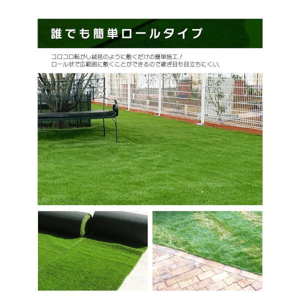 防炎リアル人工芝 [U字ピン20本入] 1m×10m 芝丈36mm [彩-IRODORI-] UV ロールタイプ人工芝 綺麗 高密度 高級 芝|mobimax2|12