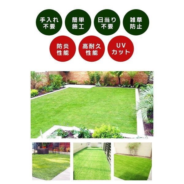 防炎リアル人工芝 [U字ピン20本入] 1m×10m 芝丈36mm [彩-IRODORI-] UV ロールタイプ人工芝 綺麗 高密度 高級 芝|mobimax2|20