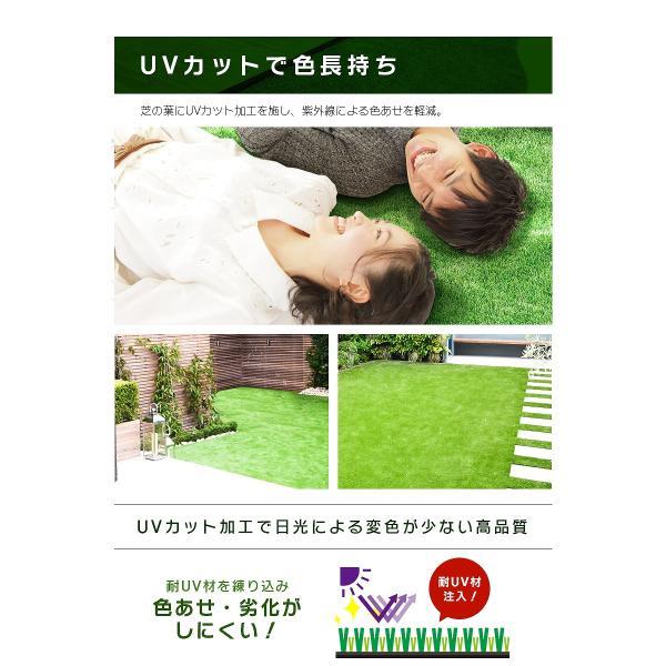 防炎リアル人工芝 [U字ピン20本入] 1m×10m 芝丈36mm [彩-IRODORI-] UV ロールタイプ人工芝 綺麗 高密度 高級 芝|mobimax2|08