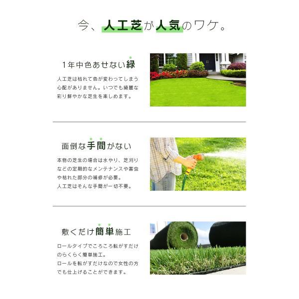 人工芝 ロール 1m×10m 芝丈40mm 高密度最高級品質 防炎・UVカット・耐久 リアル人工芝 庭 緑化 綺麗 高密度 高級 芝  [ 美麗 BIREI ]|mobimax2|02