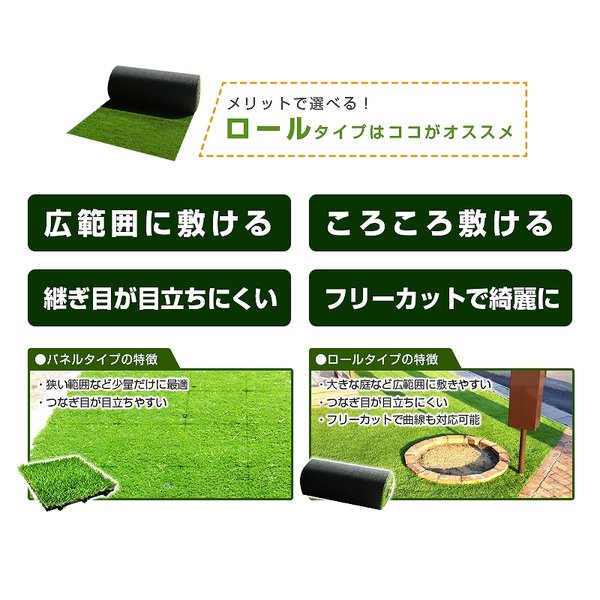 人工芝 ロール 1m×10m 芝丈40mm 高密度最高級品質 防炎・UVカット・耐久 リアル人工芝 庭 緑化 綺麗 高密度 高級 芝  [ 美麗 BIREI ]|mobimax2|16