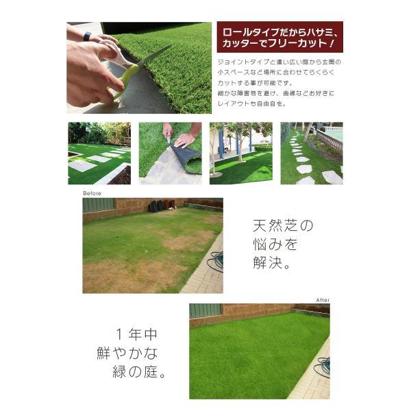 人工芝 ロール 1m×10m 芝丈40mm 高密度最高級品質 防炎・UVカット・耐久 リアル人工芝 庭 緑化 綺麗 高密度 高級 芝  [ 美麗 BIREI ]|mobimax2|06