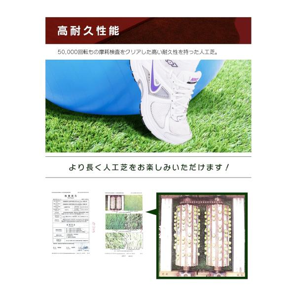 人工芝 ロール 1m×10m 芝丈40mm 高密度最高級品質 防炎・UVカット・耐久 リアル人工芝 庭 緑化 綺麗 高密度 高級 芝  [ 美麗 BIREI ]|mobimax2|10