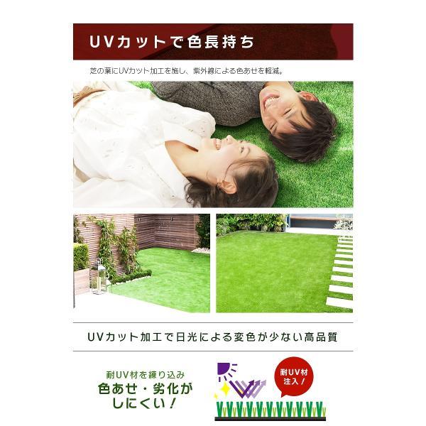 人工芝 ロール 1m×5m 芝丈30mm 高密度最高級品質 防炎・UVカット・耐久 リアル人工芝 庭 緑化 綺麗 高密度 高級 芝  [ 美麗 BIREI ]|mobimax2|11