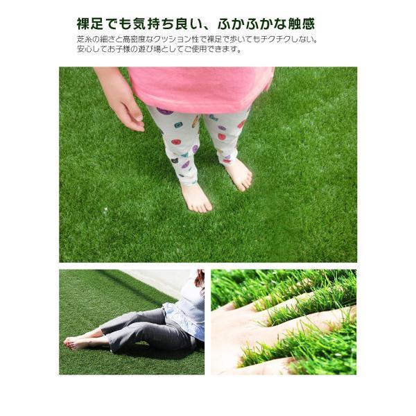 人工芝 ロール 2m×5m 芝丈30mm 高密度最高級品質 防炎・UVカット・耐久 リアル人工芝 庭 緑化 綺麗 高密度 高級 芝  [ 美麗 BIREI ]|mobimax2|13