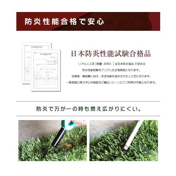 人工芝 ロール 2m×5m 芝丈30mm 高密度最高級品質 防炎・UVカット・耐久 リアル人工芝 庭 緑化 綺麗 高密度 高級 芝  [ 美麗 BIREI ]|mobimax2|08